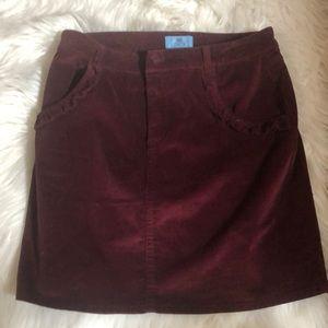 Dresses & Skirts - Maroon corduroy skirt